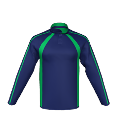 NAVY / EMERALD REVERSIBLE RUGBY SPORTS TOP